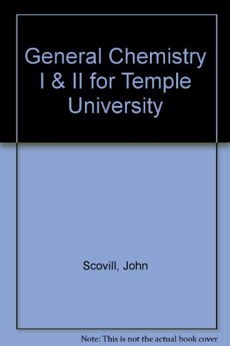 (WCS)Laboratory Manual for General Chemistry I & II for Temple University