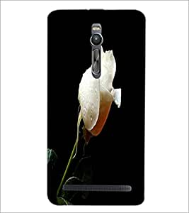PrintDhaba White Rose D-2002 Back Case Cover for ASUS ZENFONE 2 (Multi-Coloured)