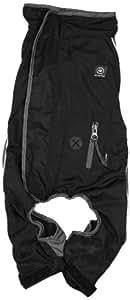 Silver Paw Anti-Odor Plus Anti-Bacterial 16-Inch Dog Full Body Waterproof Rain Suit, Large, Black/Grey