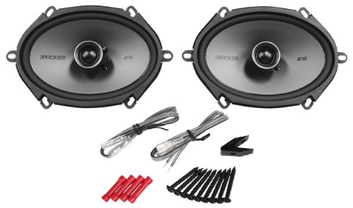 "Pair Of Kicker 41Ksc684 6X8"" Ks-Series 2-Way Car Speakers With Poly-Switch To Offer Protection From Excessive Power Or Distortion - 300 Watts Peak/150 Watts Per Pair Rms (150 Watts Peak/75 Watts Rms Each Speaker)"