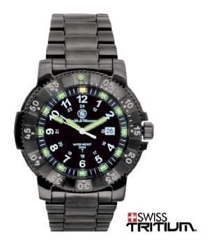 New Smith & Wesson Watches SWW-357-GMSS?Magnum Watch Tritium 45 mm Gun Metal Stainless Steel ?