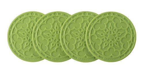 Le Creuset Silicone French Coasters, Palm, Set Of 4