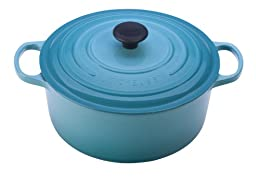 Le Creuset Signature Enameled Cast-Iron 4-1/2-Quart Round French (Dutch) Oven, Carribean
