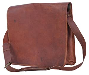 Passion Leather 16 Inch Full Flap Laptop Messenger Satchel Bag from Passion Leather