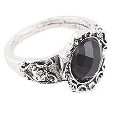 buy Banggood 2X Jewelry Carved Patterns Rhinestone Black Gem Stone Ring