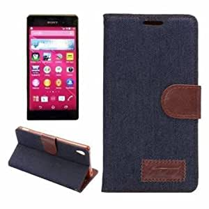 Jeans Pattern Cloth TPU Leather Flip-open Case For Sony Xperia Z4