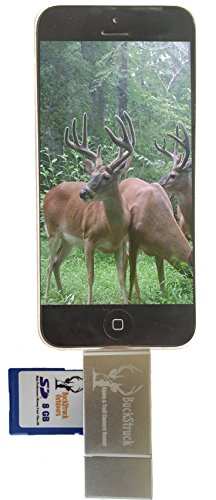 BuckStruck Game and Trail Camera Viewer for Apple iPhone, iPad, iPod - Includes Lightning Extender - For Hunting and Game Cameras - Reads SD, SDHC and Micro SD Cards (Iphone Accesories 5c compare prices)