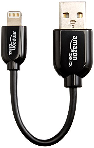 AmazonBasics Apple Certified Lightning to USB Cable - 4-Inches (10 Centimeters) - Black