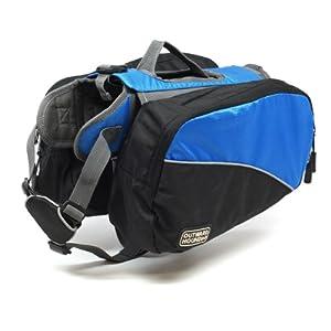 Kyjen 2494 Dog Backpack Dog Pack Adjustable Saddlebag Style, Medium, Blue