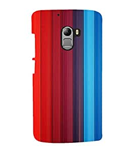 printtech Colored pattern streak Back Case Cover for  Lenovo K4 Note A7010a48, A7010