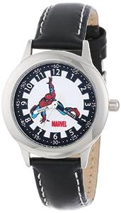 Marvel Comics Kids' W000114 Spider-Man Stainless Steel Time Teacher Watch
