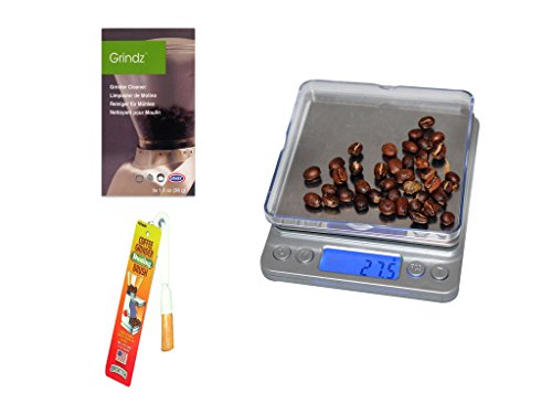 Coffee Grinding Accessory Set   Includes CoastLine Digital Pocket Pour-Over Coffee Scale, Urnex Grindz Coffee Grinder Cleaner, and Brushtech Coffee Grinder Dusting Brush   Coastline (Pocket Coffee Maker compare prices)