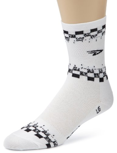 Image of DeFeet Men's Aerator Hi Top White Sock (AIRTARW101-P)