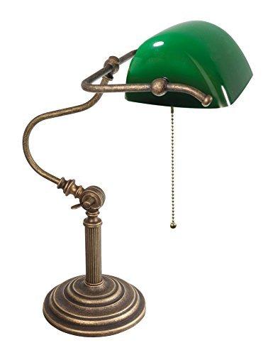 Premium-Bankersleuchte-Bankerlampe-mit-Zugschalter-in-Bronze-Antik-Jugendstil-1xE27-bis-60W-230V-aus-Messing-Glas-Schreibtisch-Lampe-Leuchten-Beleuchtung