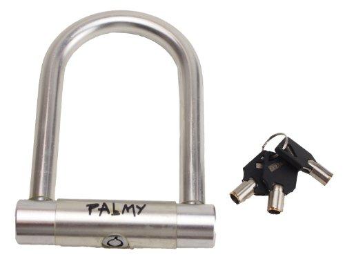 palmy mini aluminium u lock 5 1 x silver the cycling authority. Black Bedroom Furniture Sets. Home Design Ideas
