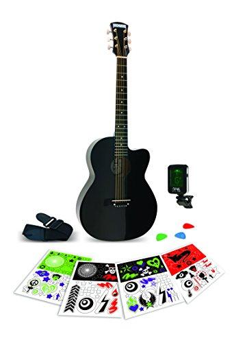 Rockwood Junior Instruments RWAB Black 3/4 Acoustic Guitar pack