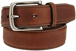 Tommy Hilfiger Mens Casual Contrasting Stitch Belt, Brown, 36