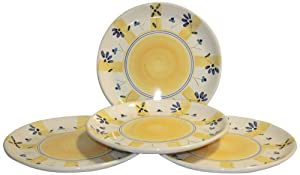 Caleca Zafferano 4 piece dinner plate set, service for 4