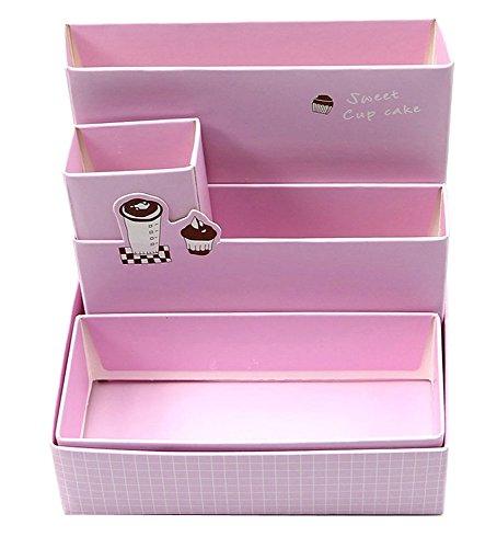 niceeshop(TM) DIY Stationery Makeup Organizer Paper Board Storage Box-Sky Blue