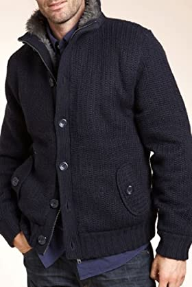 North Coast Funnel Neck Bomber Jacket with Wool [T30-4422N-S]