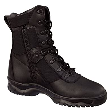 Mens Boots - Forced Entry Tactical W/Side Zipper, Black, 13 Regular by Rothco