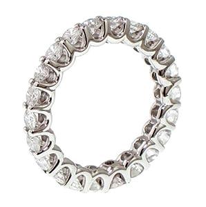 2.10 CT TW Round Diamond Eternity Wedding Band in 14k Gold U-prong Setting - Size 6