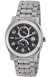 Jean D'eve Men's 847051NS.AA Luna Black Dial Stainless Steel Bracelet Watch