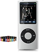 "New 16gb Slim Mp3 Mp4 Player with 1.8"" LCD Screen Fm Radio, Video Games & Movie Silver"
