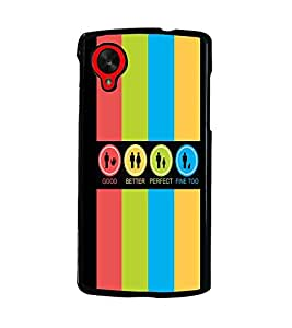 PrintDhaba Logos D-4034 Back Case Cover for LG GOOGLE NEXUS 5 (Multi-Coloured)