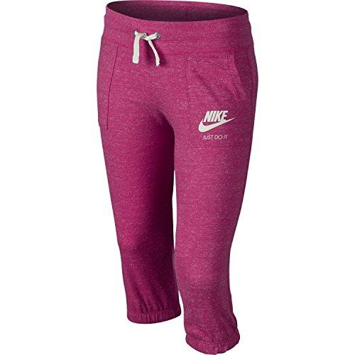 Girls Nike Sportswear Gym Vintage Knit Capri Sweatpants (Vivid Pink, M)