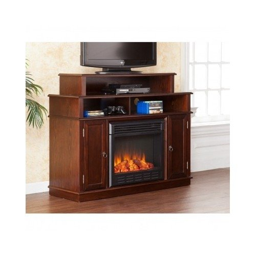 Entertainment Media Tv Console Stand With Electric Fireplace Heater Perfect For Living Room Or Theater Room, Instant Home Update For Winter Weather front-1010790