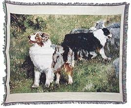 Australian Shepherd Afghan Throw Blanket Coverlet