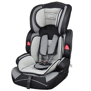 Bebehut Ventura Elite Convertible Child Car Seat Group 1,2&3,9-36kg (Grey/Black BAB001-H03)