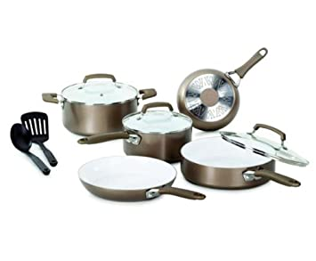 WearEver Pure Living Nonstick Ceramic Cookware 10-piece Set - C944SA64 Reviews