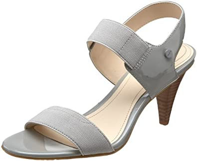 Calvin Klein Women's Alise Ankle-Strap Sandal,Light Grey,7 M US