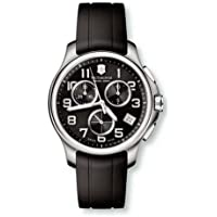 Victorinox Swiss Army Officers Chrono Rubber Black Dial Men's Watch (241452)
