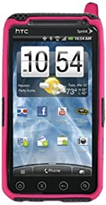 DECORO HCHTCE3DHGM Hybrid Case for HTC Evo 3D/Evo V 4G - 1 Pack - Carrying Case - Retail Packaging - Gray/Hot Pink
