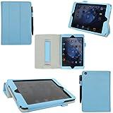 ProCase iPad mini Protective Case - Tri-Fold Folio Cover for Apple iPad mini, Built-in Stand, auto sleep/wake feature (Blue)