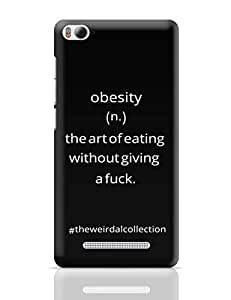 PosterGuy Obesity ! The Art Of Eating Typography, Word Art Xiaomi Mi 4i Cover