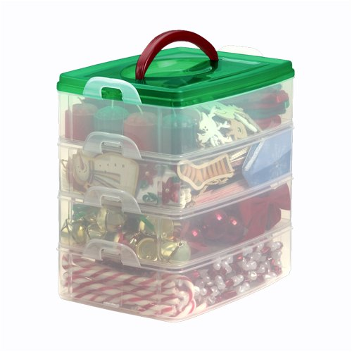 Snap N' Stack Holiday Storage Box - 4 Tier Tote by Snapware