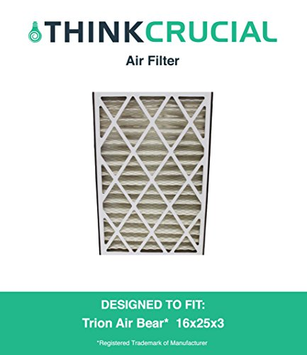 """Premium Trion Air Bear 16x25x3 (16"""" x 25"""" x 3"""") Merv 8 Replacement Air Filter, Compare to Part # 255649-101, by Think Crucial"""
