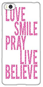 Snoogg Live Believe Solid Snap On - Back Cover All Around Protection For Xiao...