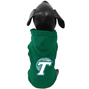 Buy NCAA Tulane Green Wave Cotton Lycra Hooded Dog Shirt, Tiny by All Star Dogs