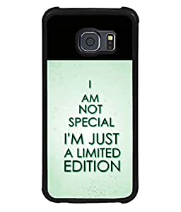 printtech Cool Quotes Back Case Cover for Samsung Galaxy S6 Edge::Samsung Galaxy Edge G925