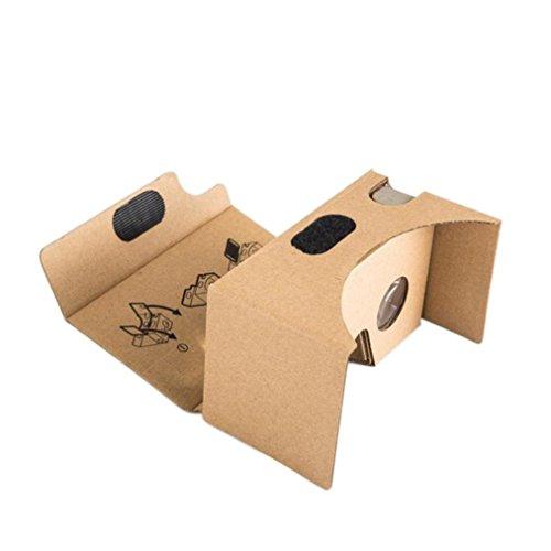 Yoyorule 2015 New Google Cardboard V2 3D VR Valencia Quality Max Fit 6 Inch phone