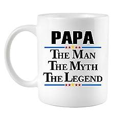 Papa The Man The Myth The Legend Coffee Mug