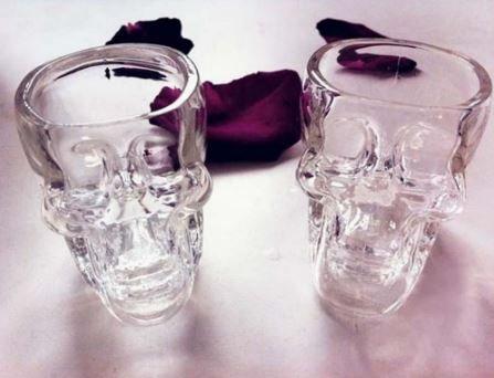 New Crystal Skull Head Vodka Whiskey Shot Glass Cup Drinking Ware Home Bar Cup Mug by Rabbit Malls.