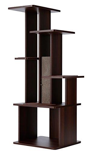 ペティオ (Petio) ネココ(necoco) スリムで壁ぎわに置きやすい キャットリビングタワー ハイタイプ  1個