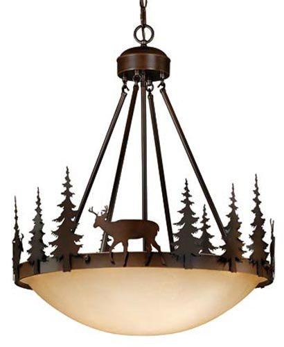 B003K6E8N6 Vaxcel PD55424BBZ 4 Light Bryce Large Pendant Light Fixture in Burnished Bronze