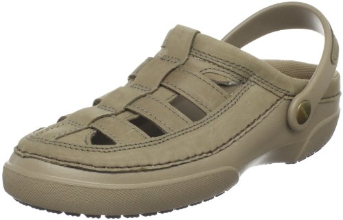 crocs Men's Mesa Fisherman Sport Clog,Khaki/Chocolate,9 M Us